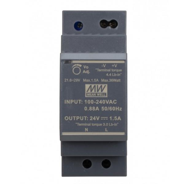 ZASILACZ HDR_30_24 /HDR-30-24 24 VDC / 1,5 A szyna DIN