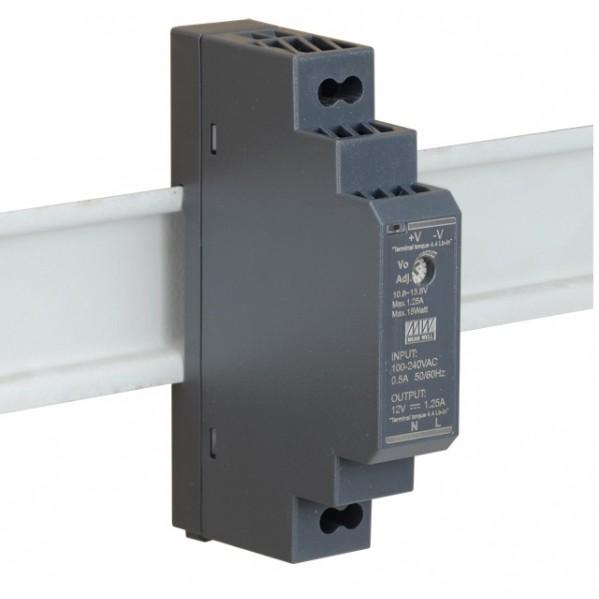 HDR 12V/15W/1.25A zasilacz na szynę DIN