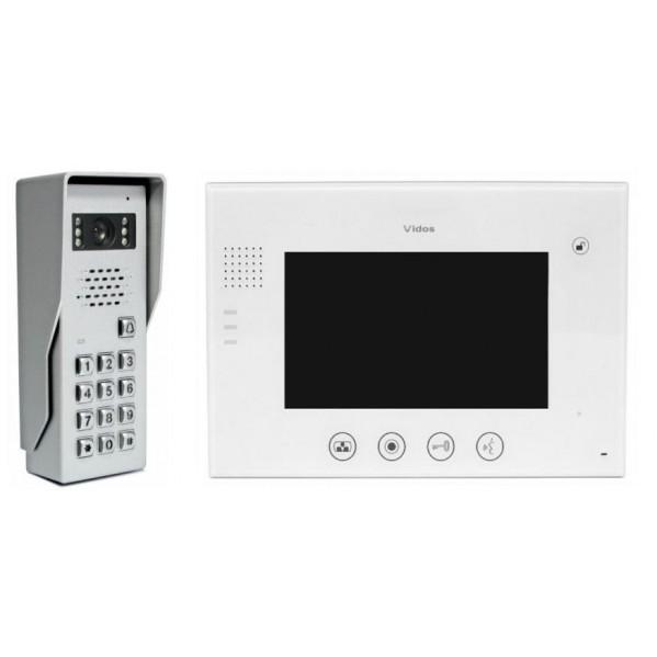 """Wideodomofon VIDOS 7"""" M670W Biały Stacja bramowa z szyfratorem"""