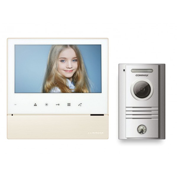 """Wideodomofon głośnomówiący 7"""" z kamerą natynkową - CDV-70H WHITE/DRC-40K"""